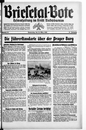 Briesetal-Bote vom 16.03.1939