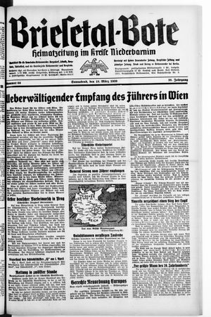Briesetal-Bote vom 18.03.1939