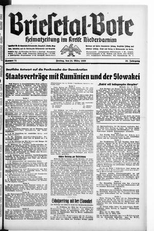 Briesetal-Bote vom 24.03.1939
