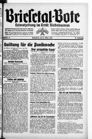 Briesetal-Bote on Mar 25, 1939