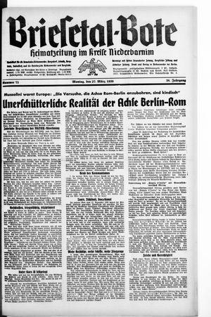 Briesetal-Bote vom 27.03.1939