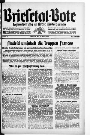Briesetal-Bote vom 29.03.1939