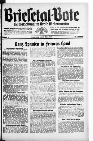 Briesetal-Bote vom 30.03.1939