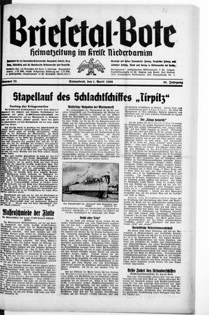 Briesetal-Bote vom 01.04.1939