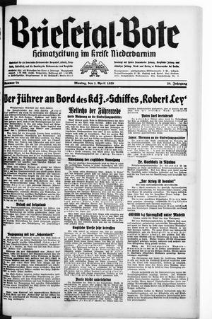 Briesetal-Bote vom 03.04.1939