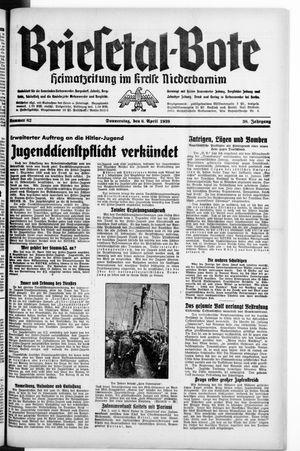 Briesetal-Bote vom 06.04.1939