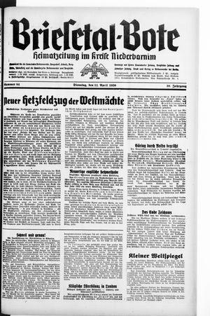 Briesetal-Bote vom 11.04.1939