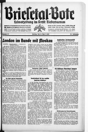 Briesetal-Bote vom 14.04.1939