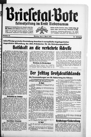 Briesetal-Bote vom 17.04.1939