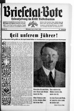 Briesetal-Bote on Apr 19, 1939