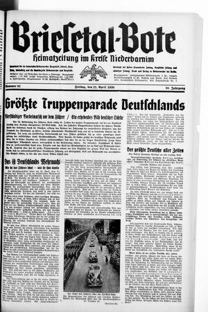 Briesetal-Bote vom 21.04.1939