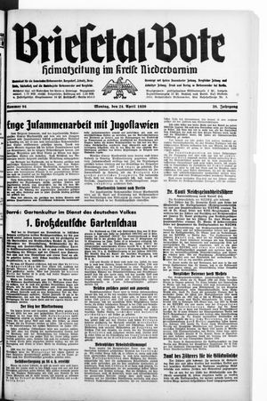 Briesetal-Bote vom 24.04.1939