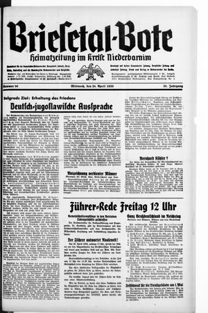 Briesetal-Bote vom 26.04.1939