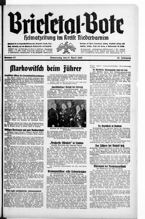 Briesetal-Bote vom 27.04.1939