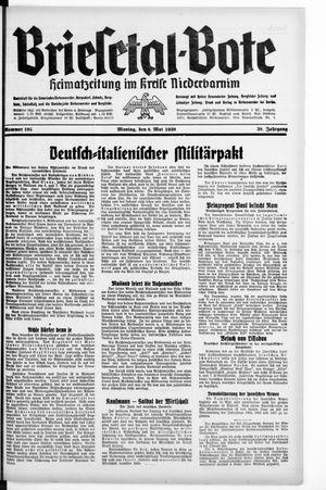 Briesetal-Bote vom 08.05.1939