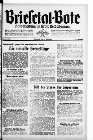 Briesetal-Bote vom 10.05.1939