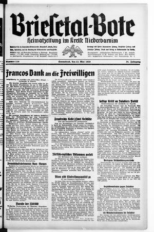 Briesetal-Bote vom 13.05.1939
