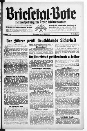 Briesetal-Bote vom 16.05.1939