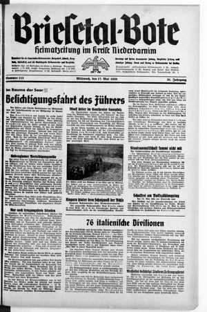 Briesetal-Bote vom 17.05.1939
