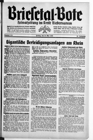 Briesetal-Bote vom 19.05.1939