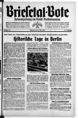 Briesetal-Bote vom 22.05.1939