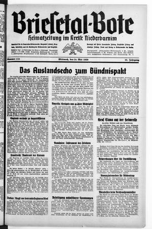 Briesetal-Bote on May 24, 1939