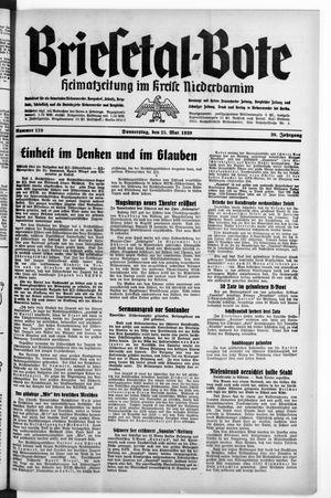 Briesetal-Bote vom 25.05.1939
