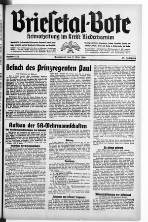 Briesetal-Bote on May 27, 1939