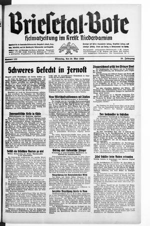 Briesetal-Bote vom 30.05.1939