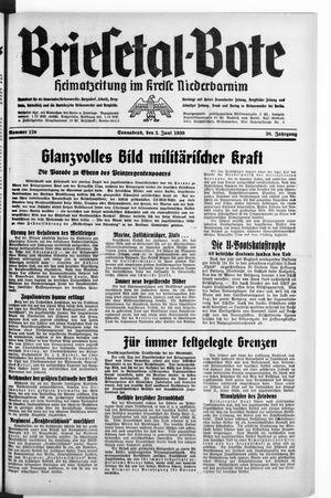 Briesetal-Bote vom 03.06.1939