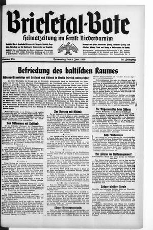 Briesetal-Bote vom 08.06.1939