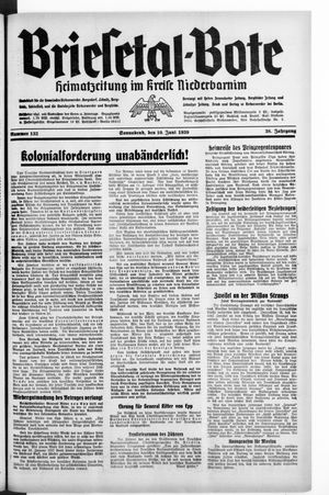 Briesetal-Bote vom 10.06.1939