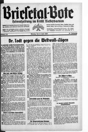 Briesetal-Bote vom 12.06.1939
