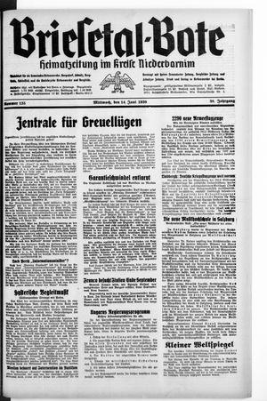 Briesetal-Bote vom 14.06.1939