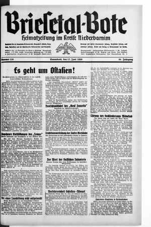 Briesetal-Bote vom 17.06.1939