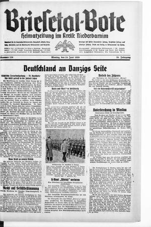 Briesetal-Bote vom 19.06.1939