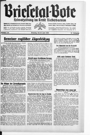Briesetal-Bote vom 20.06.1939