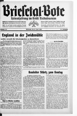 Briesetal-Bote vom 21.06.1939