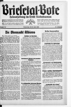 Briesetal-Bote vom 22.06.1939