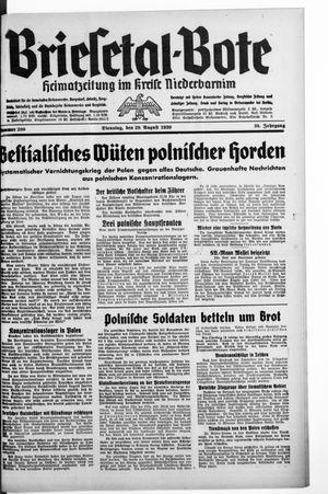 Briesetal-Bote vom 29.08.1939