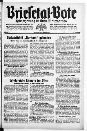 Briesetal-Bote vom 14.01.1942