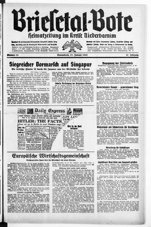 Briesetal-Bote on Jan 17, 1942