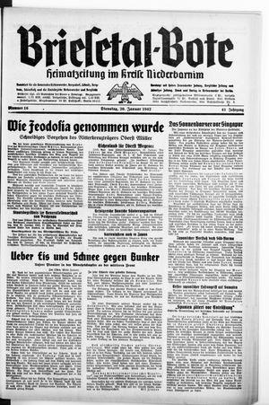 Briesetal-Bote vom 20.01.1942
