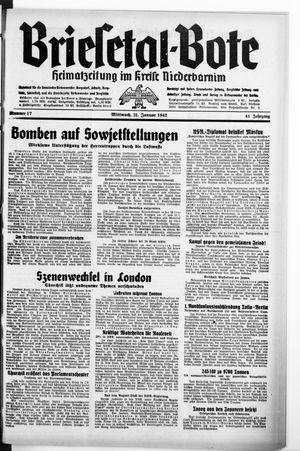 Briesetal-Bote on Jan 21, 1942