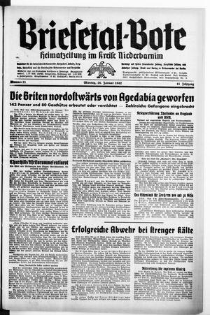 Briesetal-Bote vom 26.01.1942