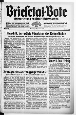 Briesetal-Bote vom 27.01.1942