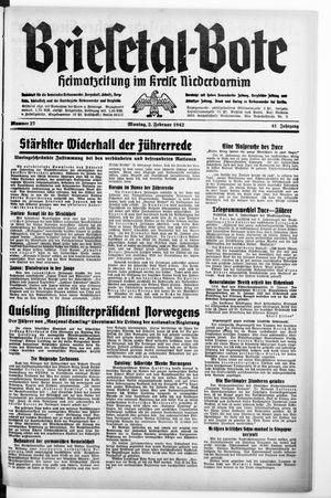 Briesetal-Bote vom 02.02.1942