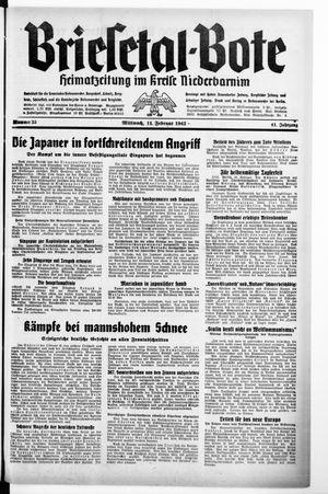 Briesetal-Bote vom 11.02.1942
