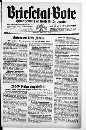 Briesetal-Bote vom 14.02.1942