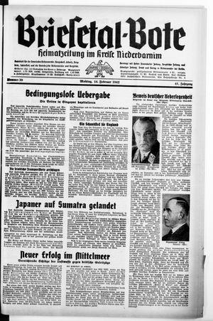 Briesetal-Bote vom 16.02.1942